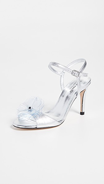 Kate Spade Giulia Open Toe Sandals In Silver