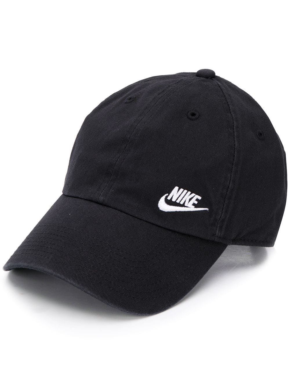 Nike Embroidered Logo Cap In Black