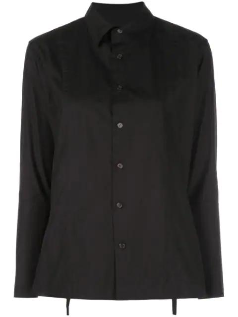 Yohji Yamamoto Straight Fit Shirt In Black