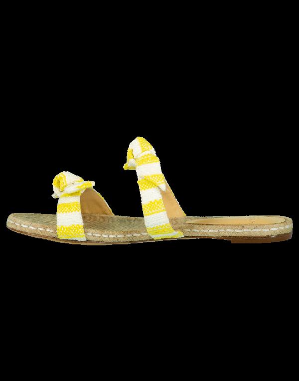 Alexandre Birman Clarita Braid Flat Sandal In Sunflwr