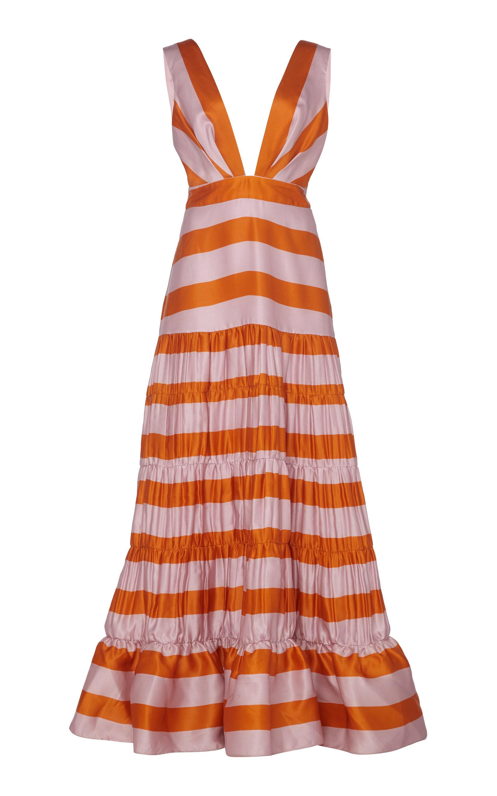 4de3b7064c3 Johanna Ortiz Viveza Colorida Striped Silk Gown