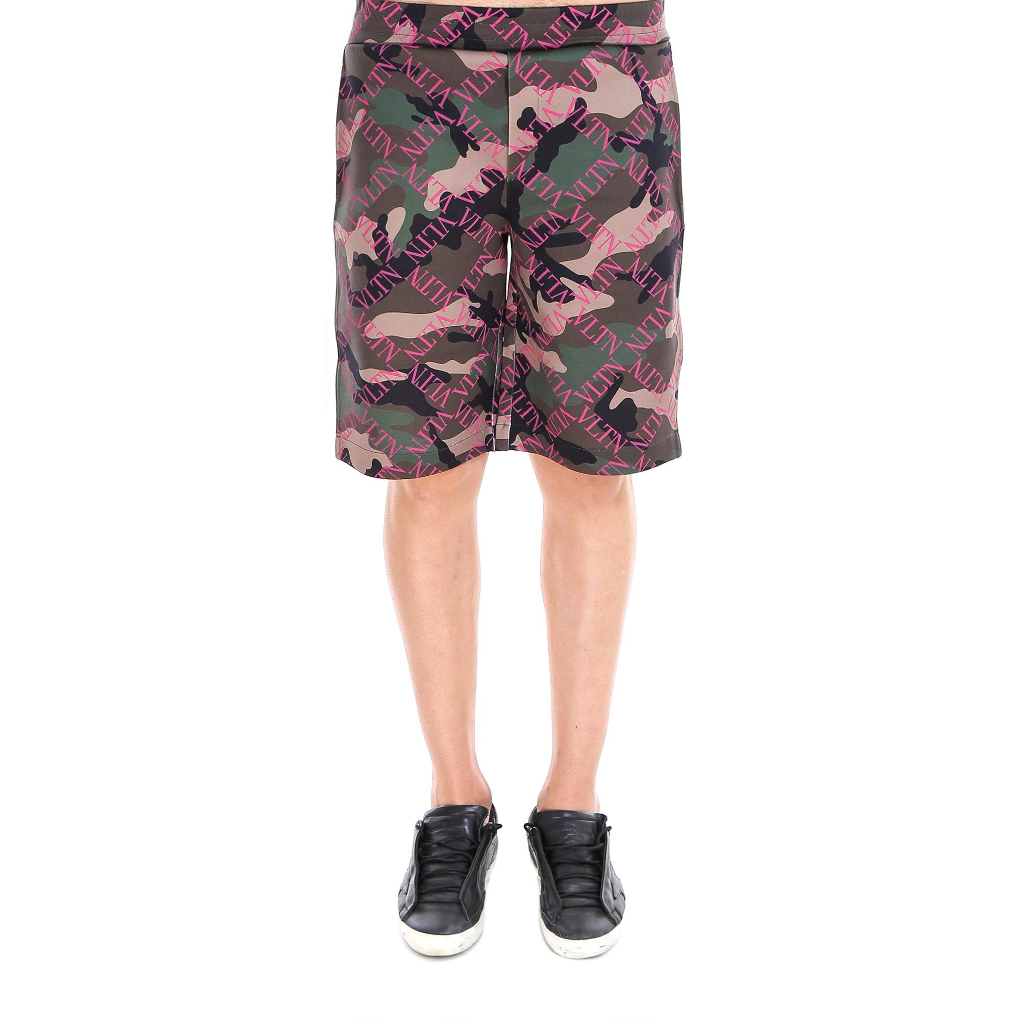22cfd90cc2 Valentino Camouflage Logo Shorts In Pink | ModeSens