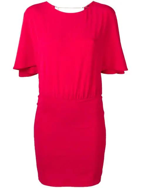 Patrizia Pepe Flutter Sleeve Dress In Pink