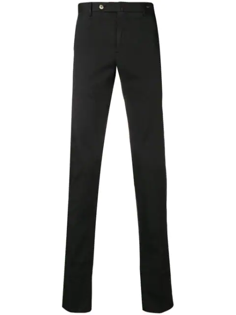 Pt01 Classic Chino Trousers In Black