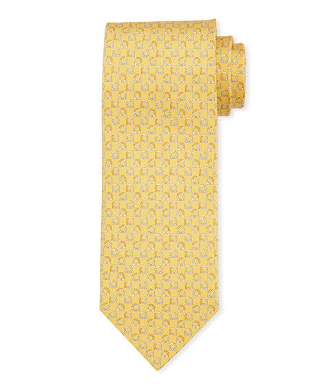 Salvatore Ferragamo Gancio Silk Tie, Yellow