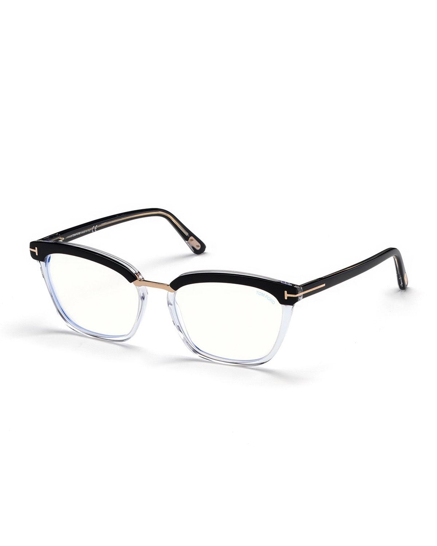 4fa2a52e20a Tom Ford Cat-Eye Transparent Acetate Optical Frames In Black