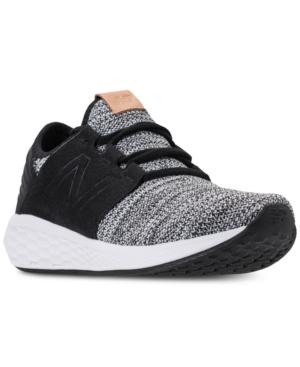 33ce4df007041 New Balance Men's Fresh Foam Cruz V2 Knit Running Shoes, White In  White/Black