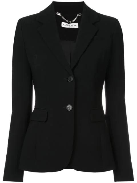 Altuzarra Fenice Classic Suiting Jacket In Black