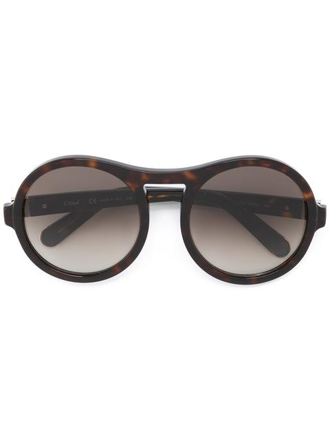 ChloÉ Large Round-frame Sunglasses In Brown