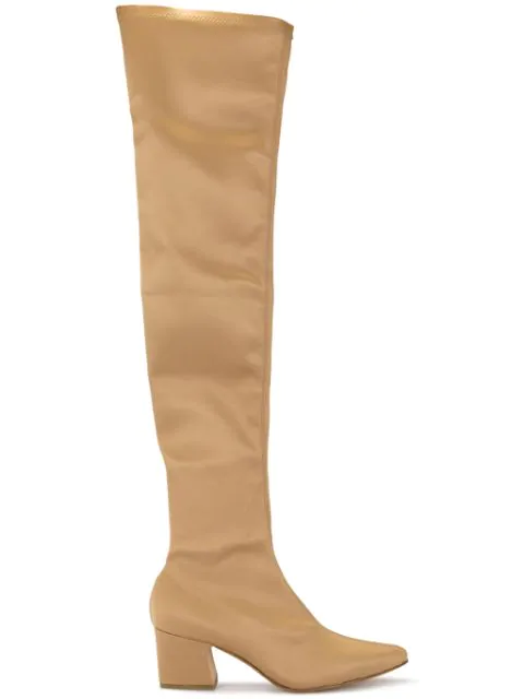 Rachel Comey Thigh-High Pointed Boots In Pink