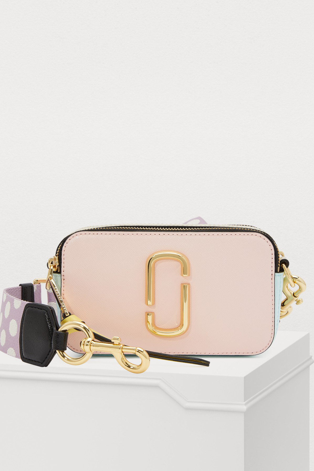 Marc Jacobs Snapshot Crossbody Bag In Blush Multi