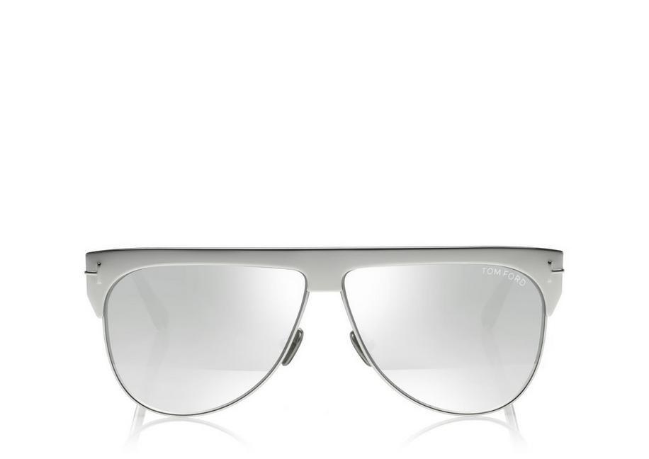 efc7bd779e52 Tom Ford Winter 62Mm Rectangular Sunglasses - Rhodium  Grey  Clear W Silver