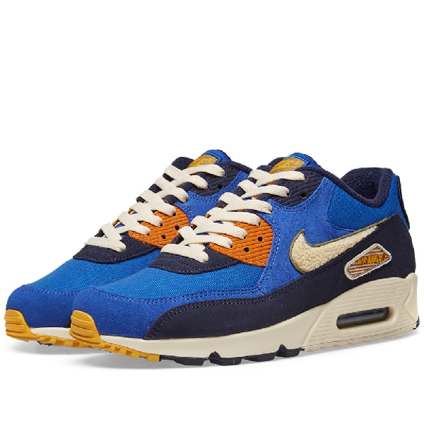 Men's Air Max 90 Premium Se Casual Sneakers From Finish Line In Blue
