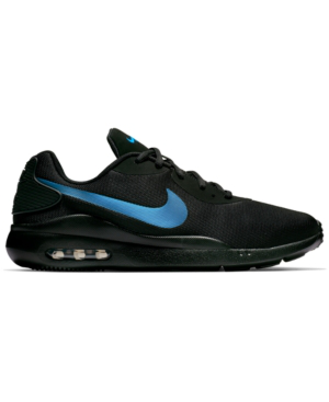 Nike Men's Oketo Air Max Casual Sneakers From Finish Line In Black/Black/Racer Blue