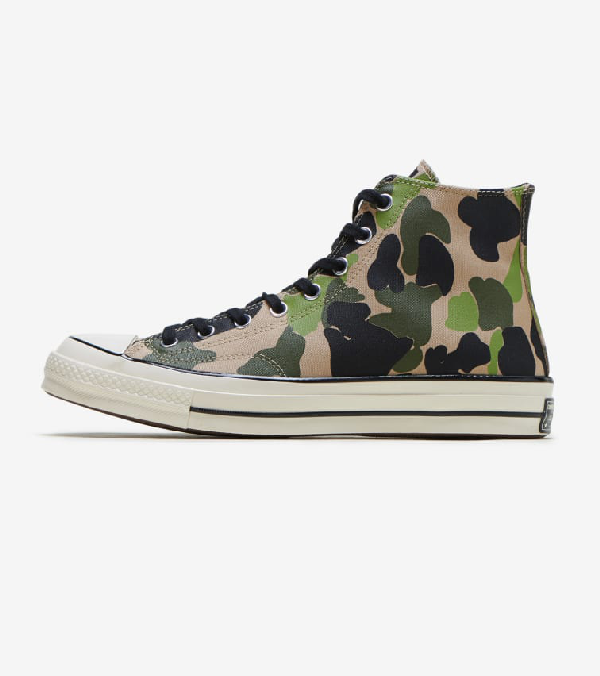 Converse Men's Chuck Taylor 70 High Top Casual Sneakers From Finish Line In Camouflage