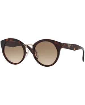 Prada Phantos Acetate Sunglasses In Brown