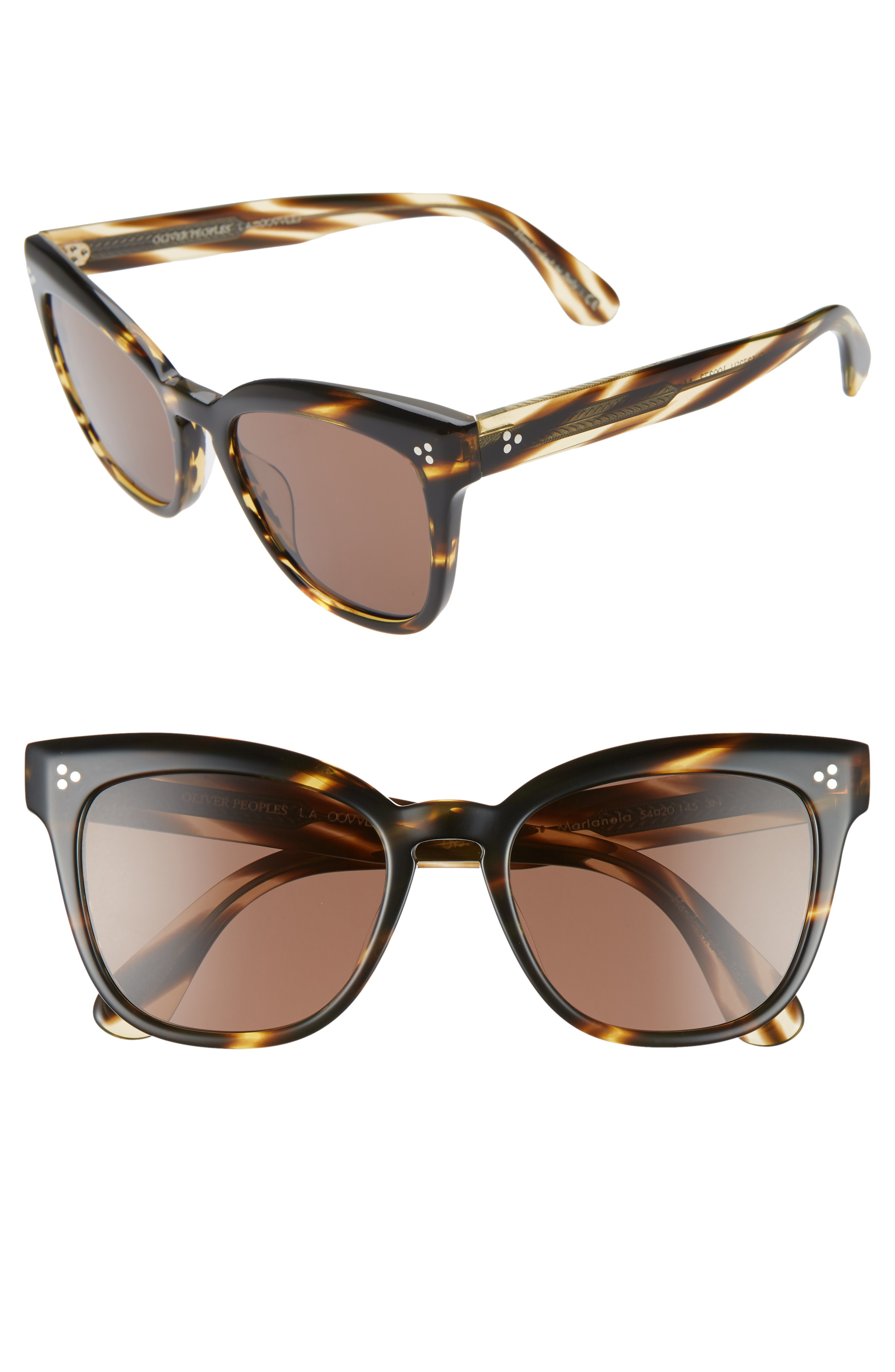 c129d9b7d1 Oliver Peoples Marianela Rounded Acetate Butterfly Sunglasses In Havana    Dark Brown