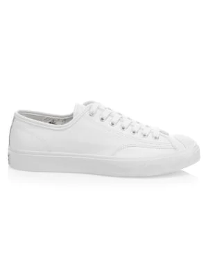 772c8a7d5fb1 Converse Foundational Leather Jack Purcell Low-Top Oxford Sneakers In White