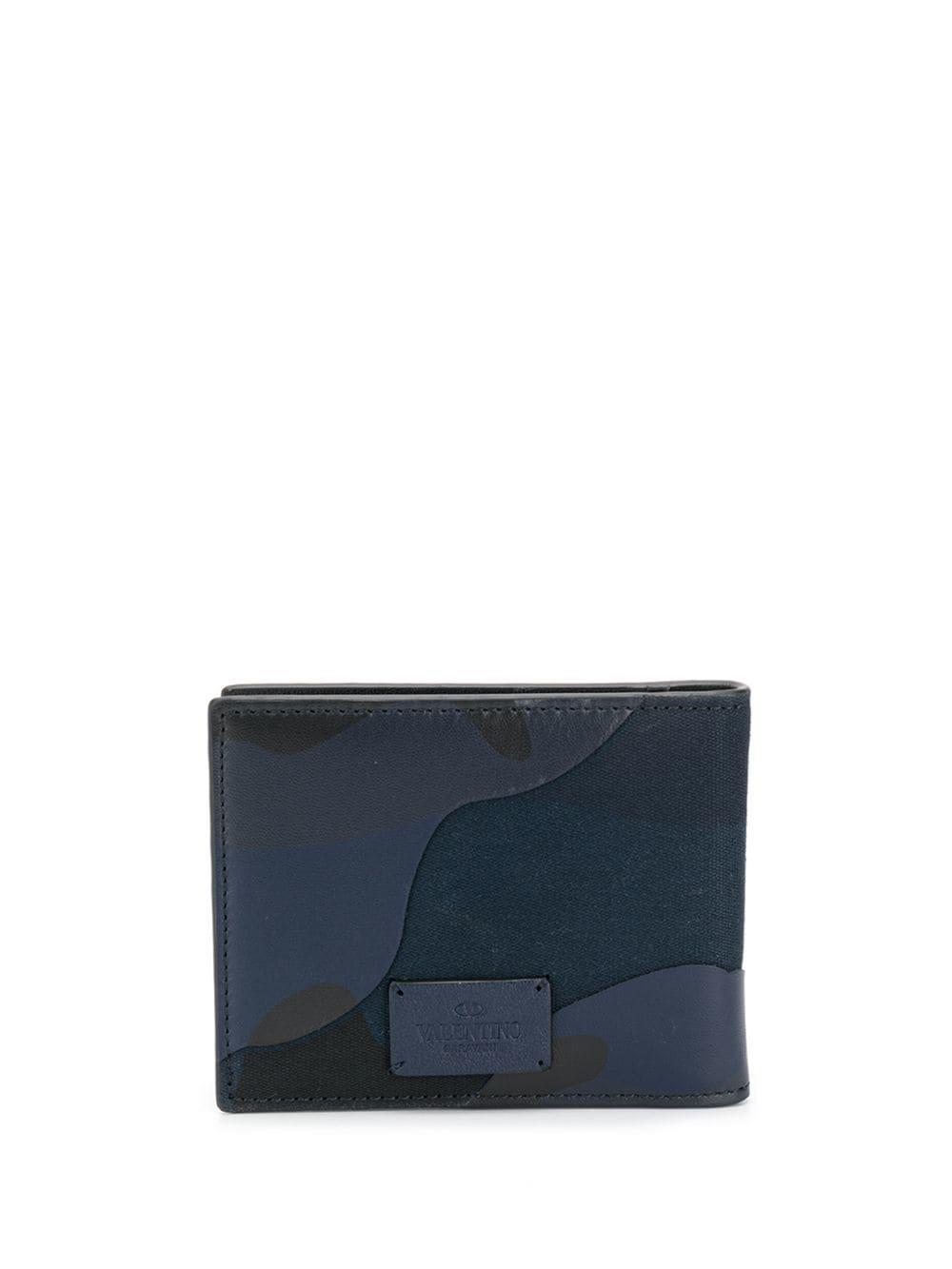 60c6cf72ec Valentino Garavani Camouflage Print Wallet - Blue | ModeSens