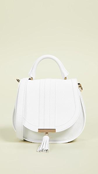 Demellier The Mini Venice Bag In White Modesens