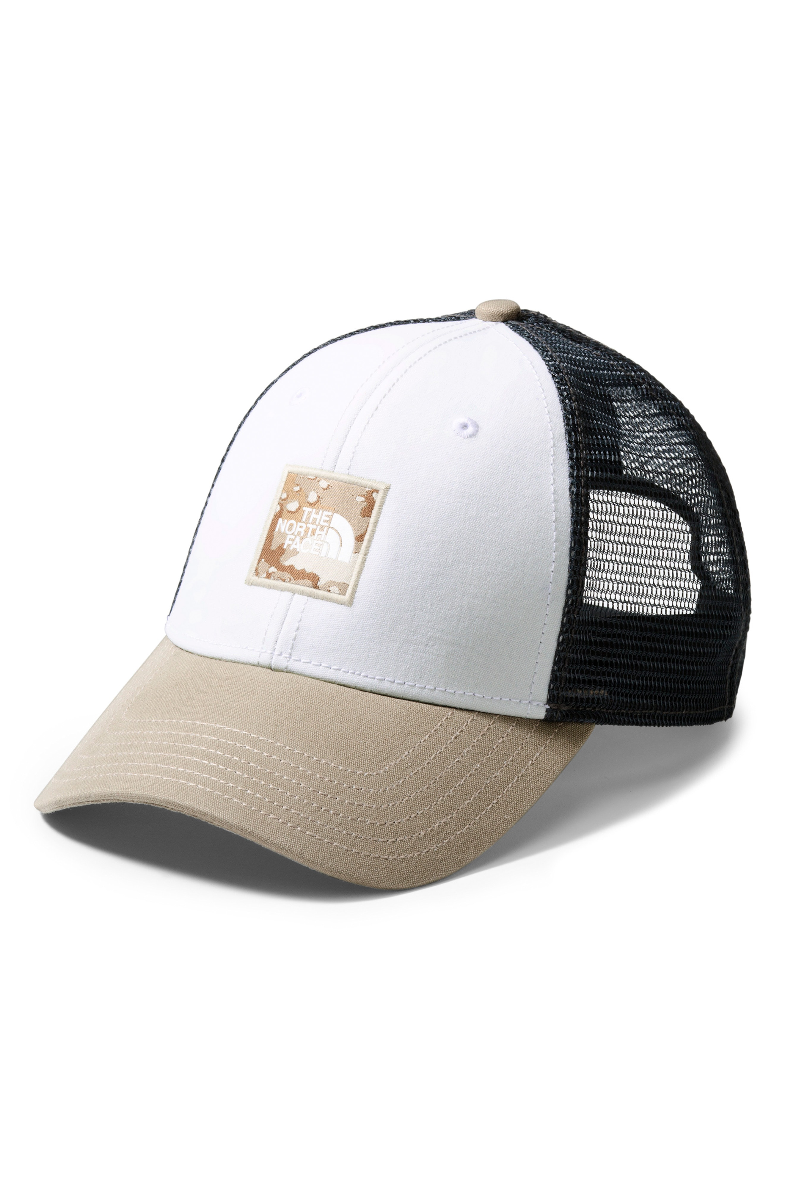 d7c0d418770cc The North Face Box Logo Trucker Hat - White In Tnfw Moabk