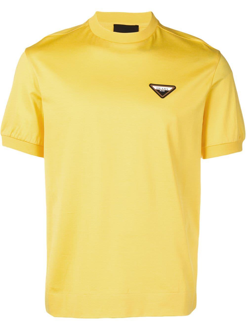 434a0fd06250a Prada T-Shirt Mit Logo-Patch - Gelb In Yellow