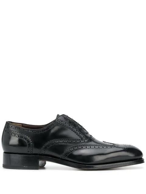 Salvatore Ferragamo Bord Black Leather Oxford Brogues
