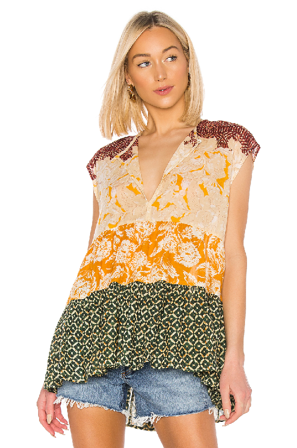 Free People Gotta Have You Tunic Top In Yellow