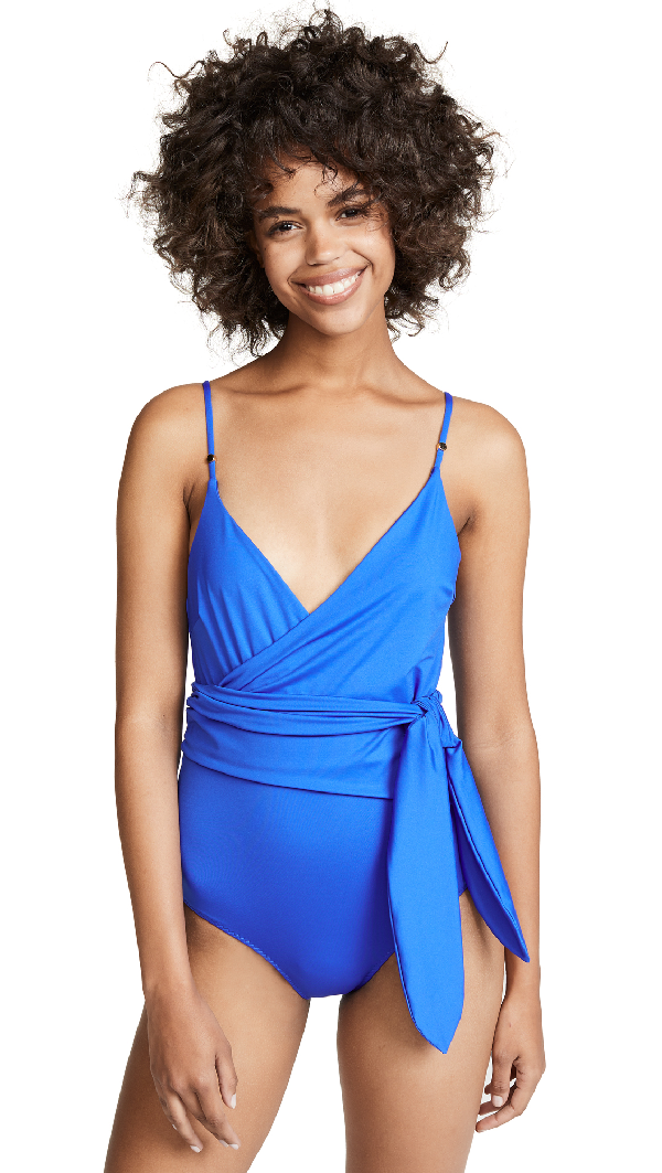 Stella Mccartney Timeless Basic One Piece Wrap In Royal