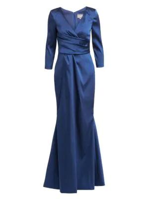Theia Women's Three-quarter Sleeve Mermaid Gown In Midnight
