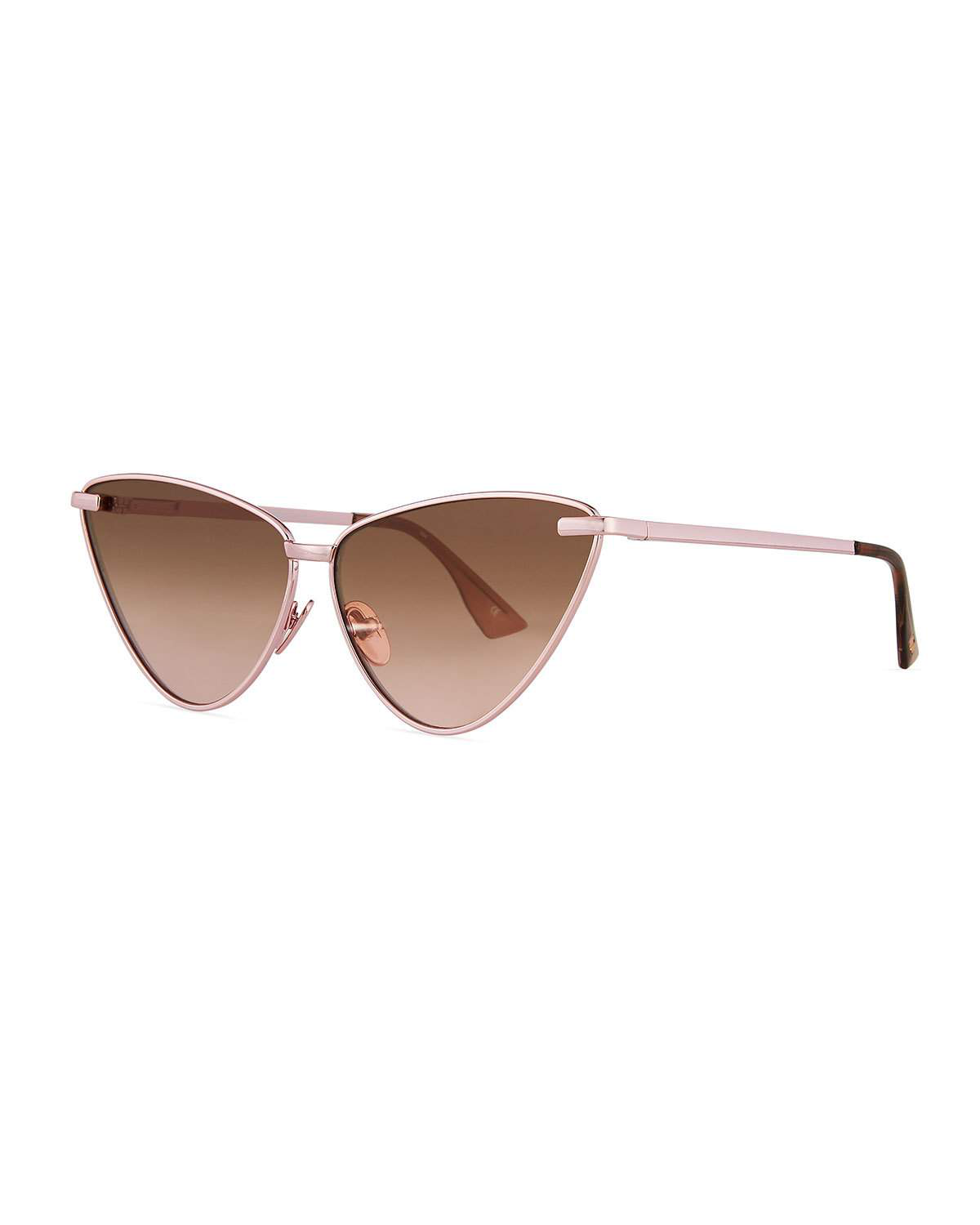 ccdee36f8165 Le Specs Nero Cat-Eye Mirrored Sunglasses In Rose Gold