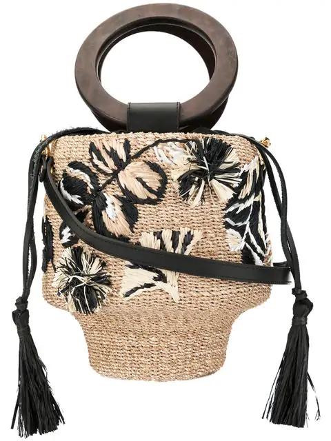 Aranaz Maya Bucket Bag In Neutrals