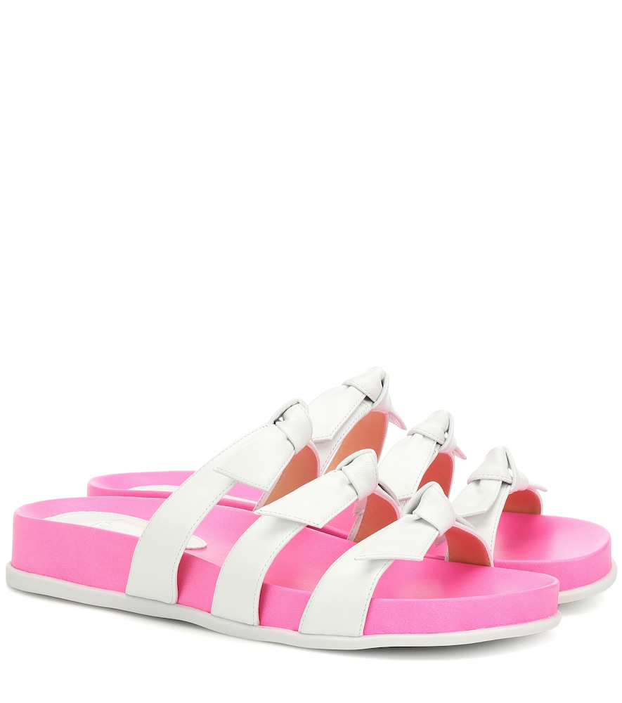Alexandre Birman Lolita Leather Sandals In Pink