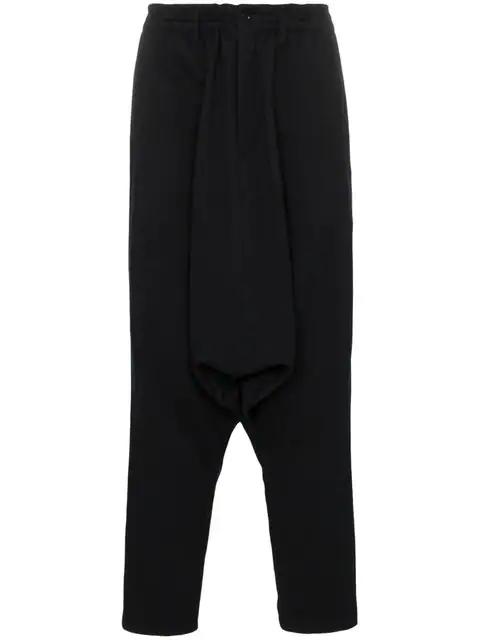 Yohji Yamamoto Black Drop Crotch Lounge Pants