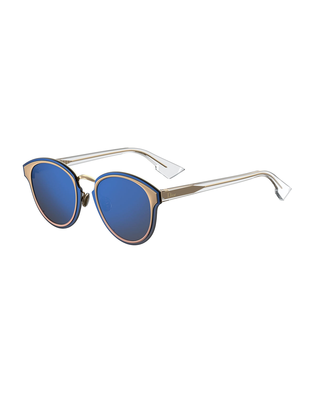 d2caed19aec7 Dior Nightfall Square Mirrored Sunglasses In Blue