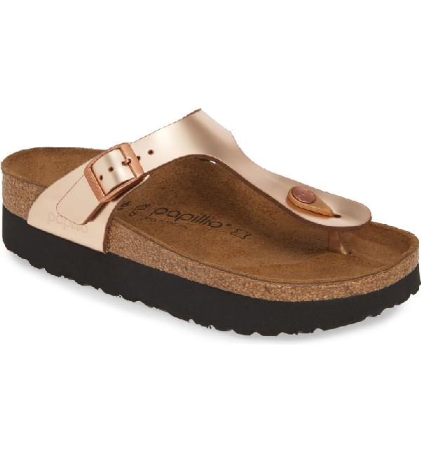 Birkenstock Papillio by Birkenstock 'Gizeh' Birko Flor Platform Flip Flop Sandal (Women) | Shoes