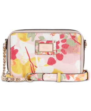 Guess Shannon Floral Mini Crossbody Camera Bag In Floral Multi/Gold