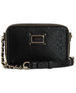 Guess Shannon Mini Crossbody Camera Bag In Black/Gold