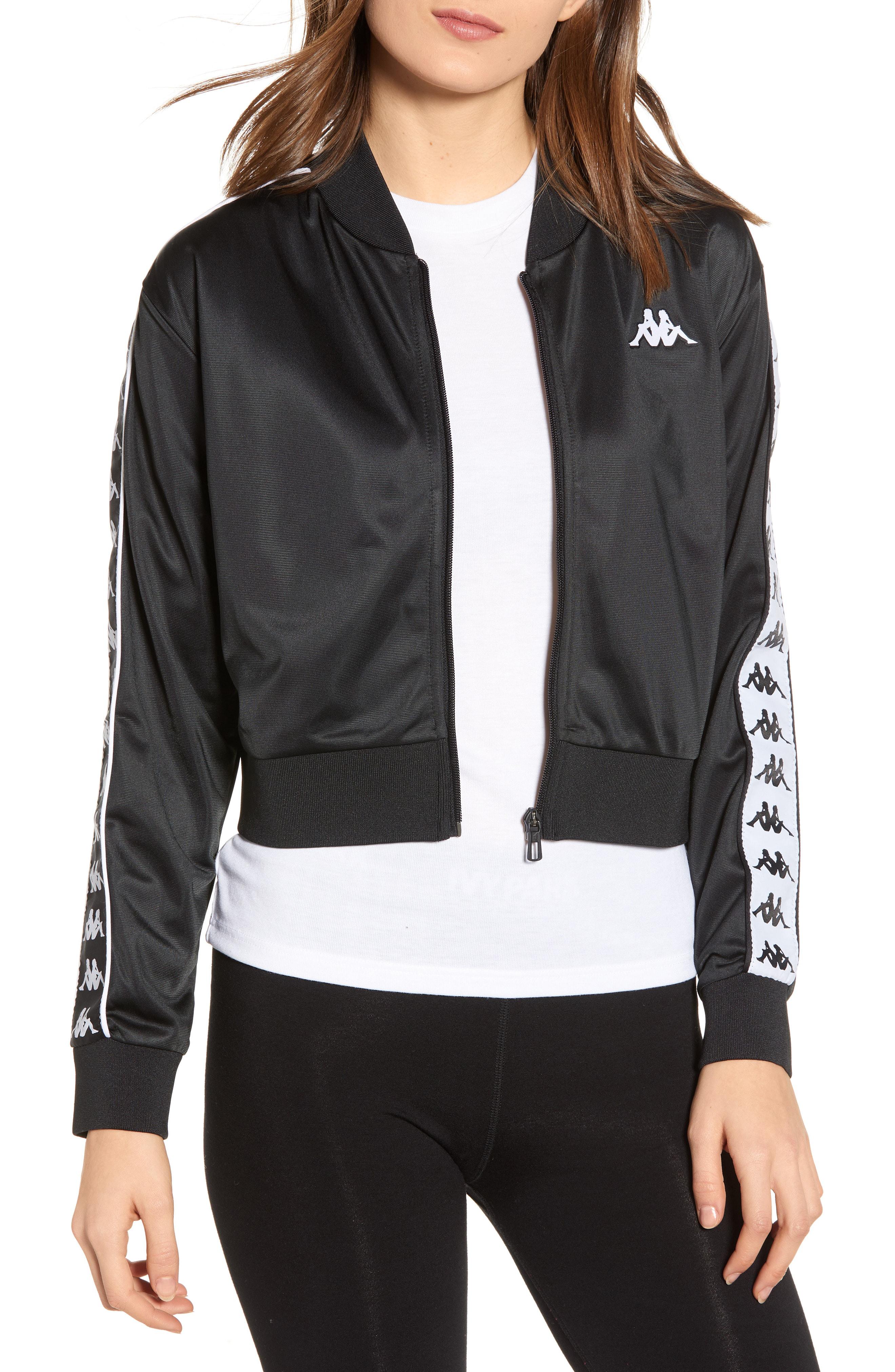 487ec55a 222 Banda Asber Crop Track Jacket in Black/ White 943