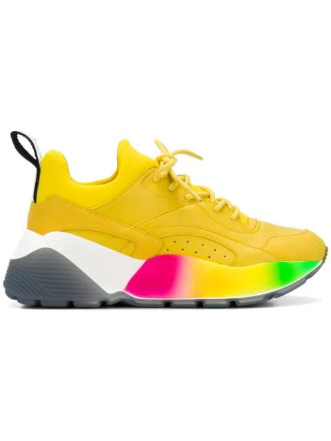 Stella Mccartney Women's Shoes Trainers Sneakers  Eclypse In 7255 Yellow