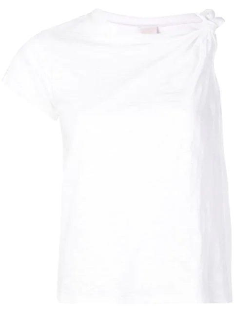 Cinq À Sept Audra One Sleeve T-shirt In White