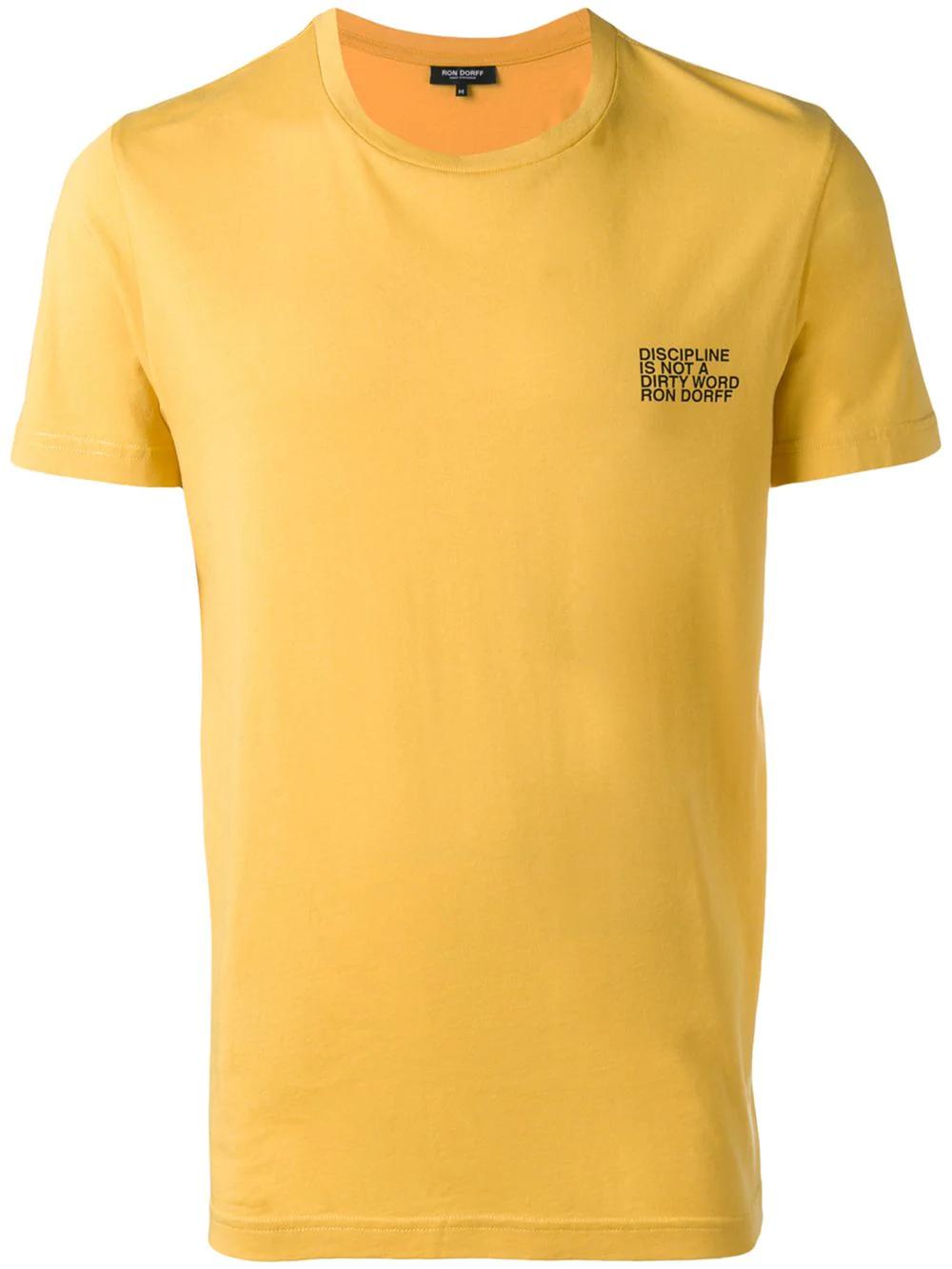 37ff7349d4 Ron Dorff Discipline T-Shirt - Yellow | ModeSens
