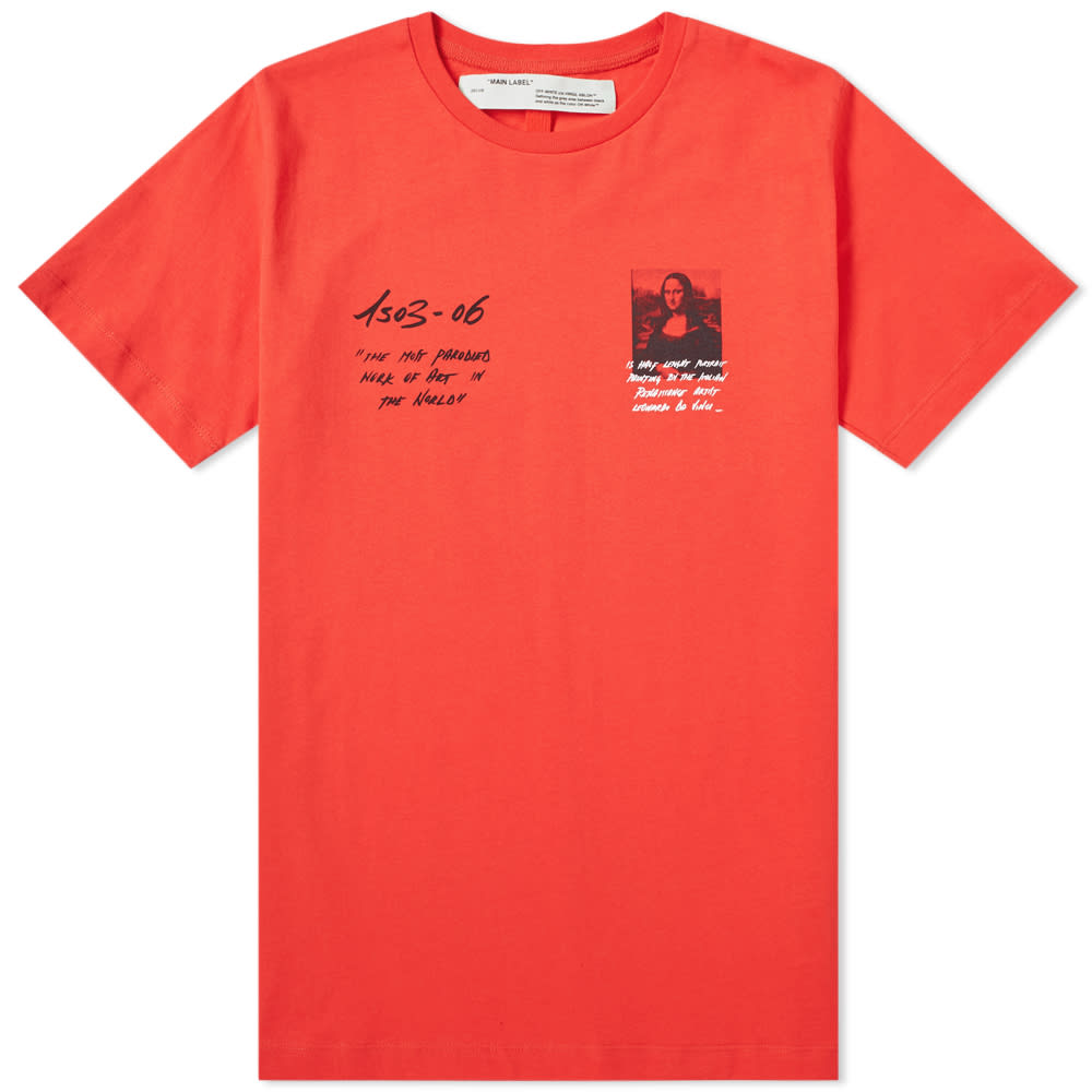55081040011 Off-White Mona Lisa Slim Tee in Red