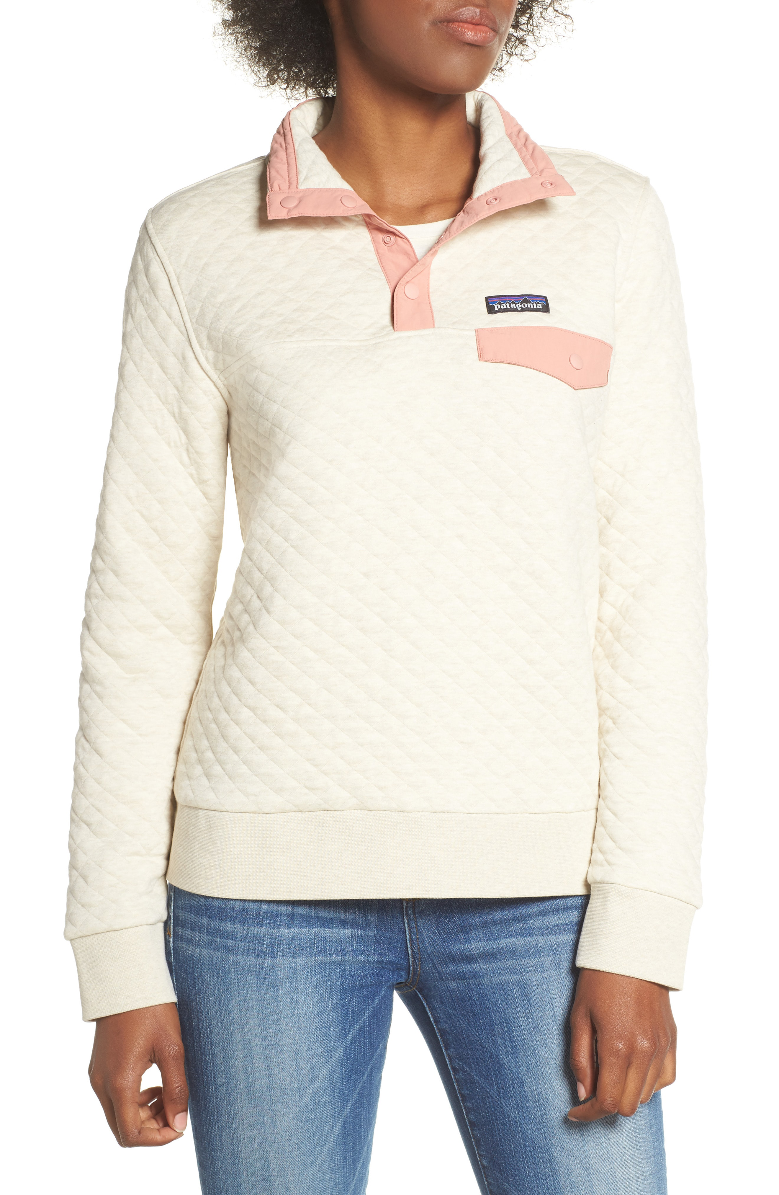 Patagonia Snap-T Quilted Pullover In Pelican