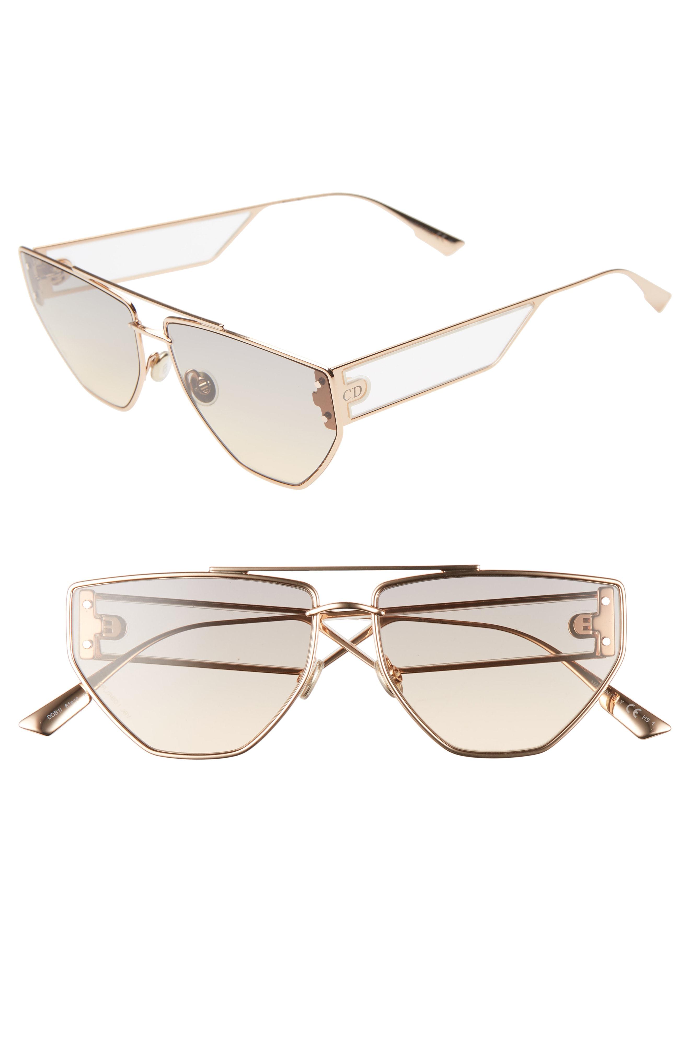 94513725feb Dior Clan 2 61Mm Aviator Sunglasses - Gold Copper  Light Gradient ...