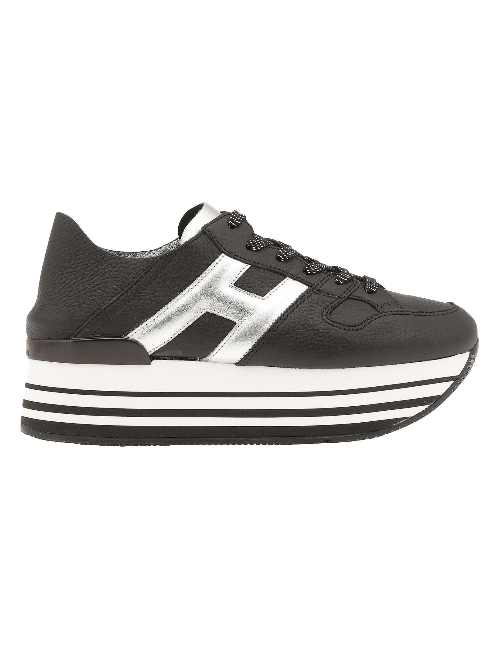 Hogan Maxi H222 Sneaker In 0353(nero argento) b200(argent | ModeSens