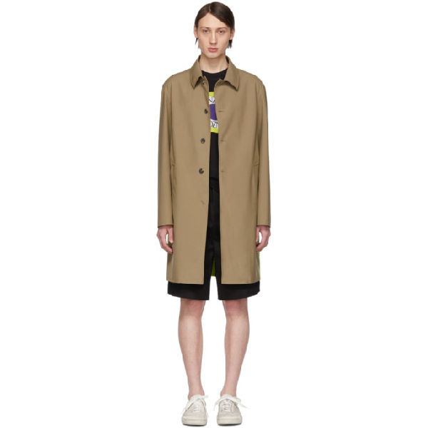 Kenzo Beige Two-tone Trench Coat