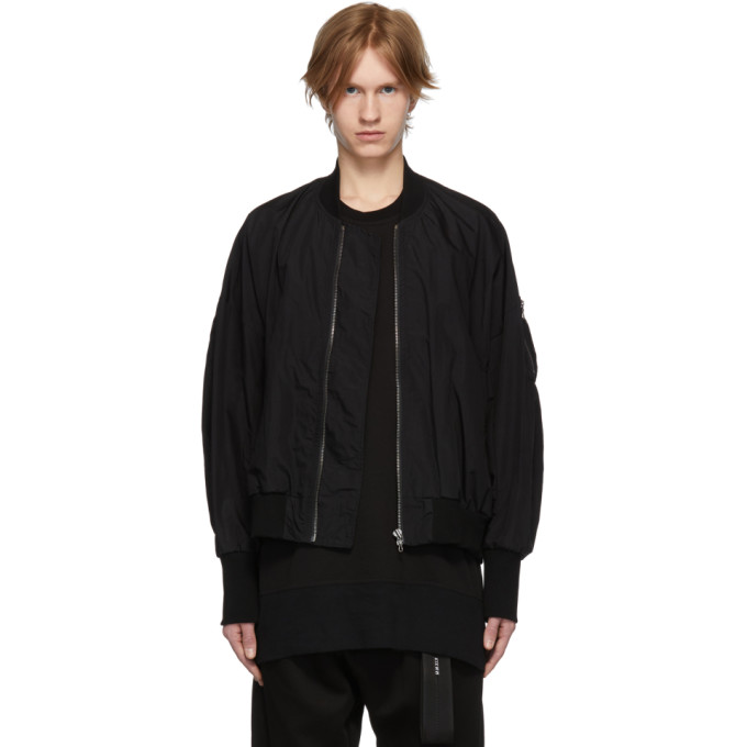 941514b500e Julius Black Nylon Bomber Jacket