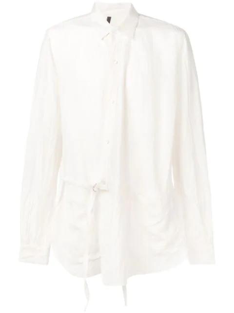 Attachment Side Belt Shirt In White