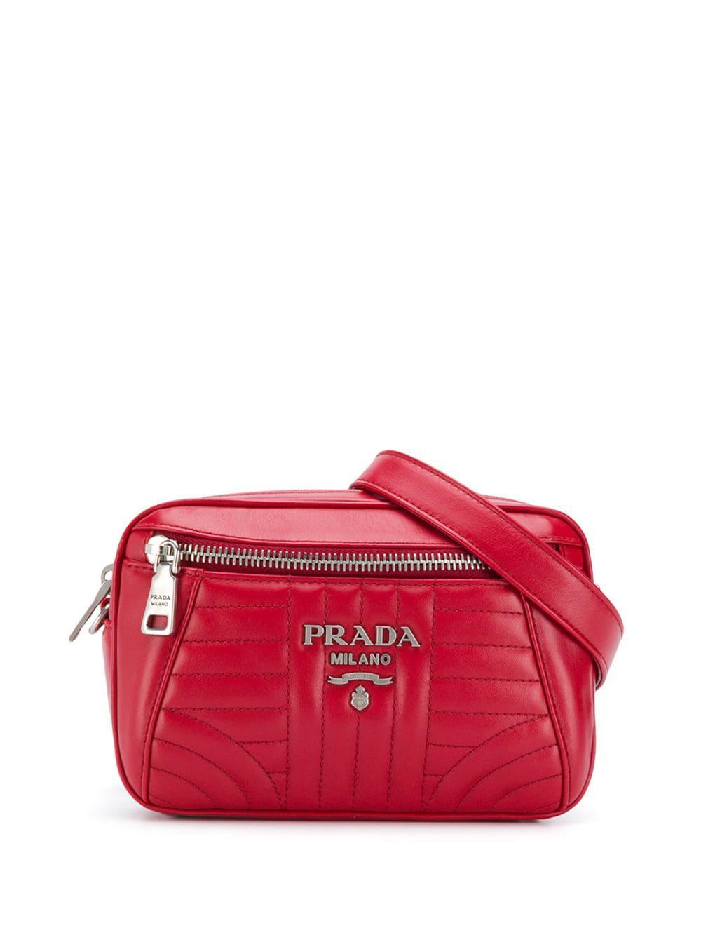 3e11c48098179c Prada Quilted Belt Bag - Red | ModeSens